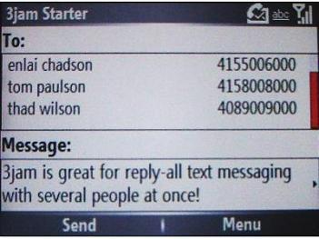 3jam Reply-All Text Messaging for Windows Mobile Smartphone released