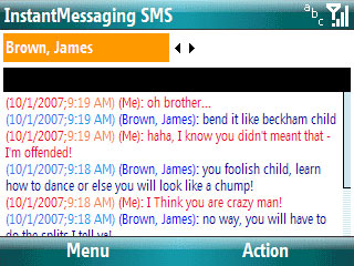 Smartphone Instant Messaging SMS
