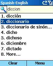 Smartphone PocketDict Spanish-English (Smartphone) 1.0