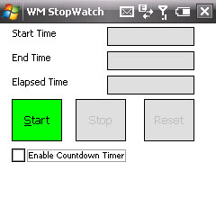Smartphone WMStopWatch freeware
