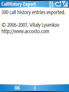 Smartphone Call History Export freeware