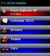 Smartphone F1 2010 Mobile freeware