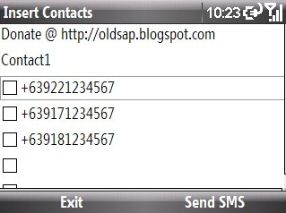 Smartphone Insert Contacts v1.01