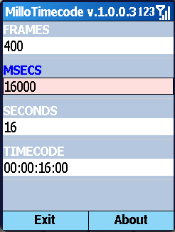 Smartphone Millo Timecode freeware