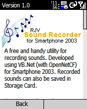 Smartphone RJV Sound Recorder 1.2 freeware