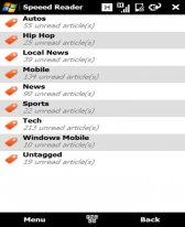 Smartphone Speeed Reader v0.83 freeware