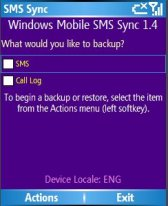 Smartphone Windows Mobile SMS Sync